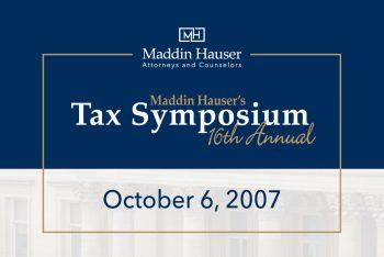 Maddin Hauser's 16th Tax Symposium