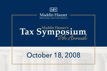 Maddin Hauser's 17th Tax Symposium