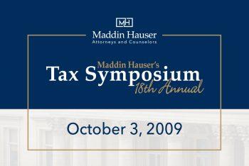 Maddin Hauser's 18th Tax Symposium