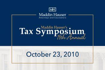 Maddin Hauser's 19th Tax Symposium
