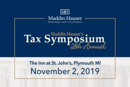 Maddin Hausers 28th Tax Symposium