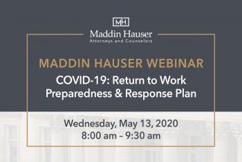 WEBINAR: COVID-19: Return to Work Preparedness & Response Plan