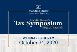 Maddin Hausers 29th Tax Symposium