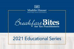 2021 Tax Breakfast Bites