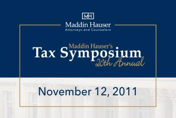 20th Tax Symposium