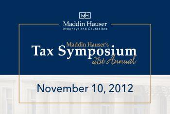 21st Tax Symposium