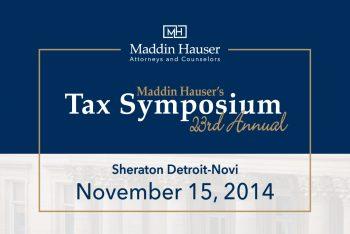 23rd Tax Symposium