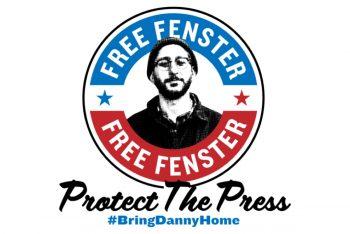 Free Fenster - Protect the Press logo - Design by Robbie Biederman